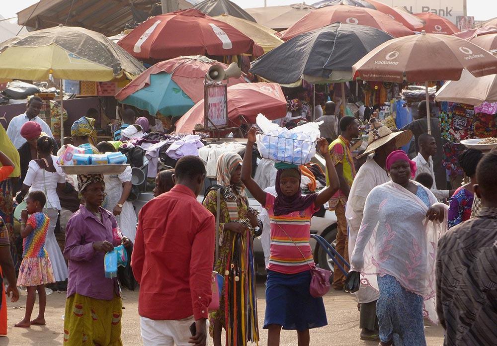 zentralmarkt in kumasi